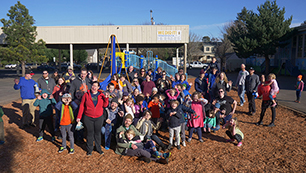 James John School playground opens: Family, staff and CareOregonians celebrate